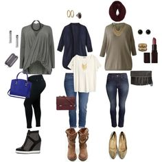 my plus size fall/winter casual chic looks, created by kristie-payne on Polyvore