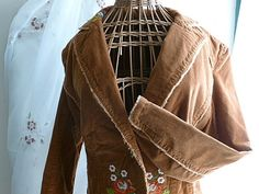 Vintage 1970s COTTON CORDUROY BOHO Jacket Size by CottonwoodDrive, $28.00