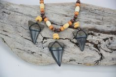 Mako Shark Tooth Necklace by JustBeadHappy2 on Etsy