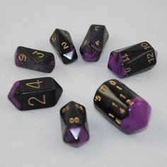 Crystal Oblivion dice set