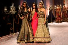 Sophie Choudry with Miss Canada 2012 Sahar Biniaz and designer Mandira Wirk