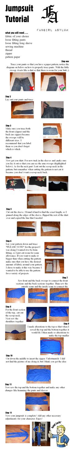 Vault/Jumpsuit Tutorial (pattern included) by fangirlasylum on DeviantArt