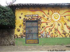 Coffee related mural, Ataco, El Salvador
