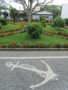 Calçada Portuguesa, Ponta Delgada, São Miguel - Açores, Portugal