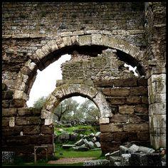 Wall by Incognita Nom de Plume, via Flickr  Remains of the Roman Baths of Faustina, Miletus, Turkey