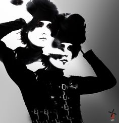 With Coco Chanel. Coco Chanel, Mysterious, Illusions, Muse, My Photos, Mystery, Photo Editing, Fantasy, Black And White