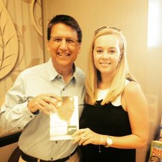Not every day I get to sign a copy of Dear Carolina for Gov. Pat McCrory's wife! Thanks for the support, Governor! #dearcarolina