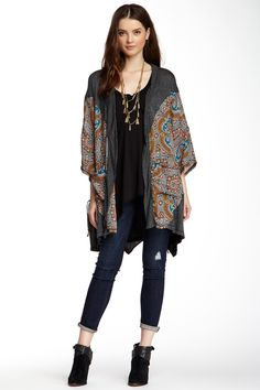 Sloane Rouge Printed Open Front Cardigan by Sloane Rouge on @HauteLook