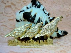 Vintage Three Birds Brooch Scarf Pin Shaw Pin Jewelry
