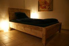 Betten - Bauholzbett Kantholzrahmen - ein Designerstück von timberclassics bei DaWanda