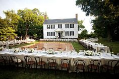Love this table set up At Tuckahoe Plantation, Richmond, VA