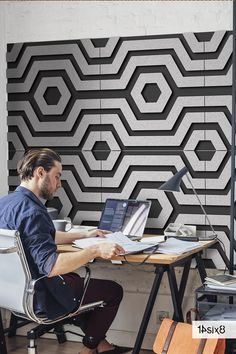 The perfect sound absorption application for any home office, our decorative acoustic wall tiles are super stylish and easy to install. #walltiles #walltilesdesign #acoustictiles #acousticdesign #acousticwall #interiors #interiordesign #interiordesigner #architecture #officeinteriors #interioracoustics #archdaily #acousticsolutions #acousticdesign #design #officedesign #architects #architecturedesign #architexture #officedesign #workspace #instaarchitecture #instadesign #sustainableinteriors Acoustic Design, Acoustic Wall, Wall Tiles Design, Sound Absorption, Office Interiors, Architecture Design, Interior Design, Decor, Nest Design