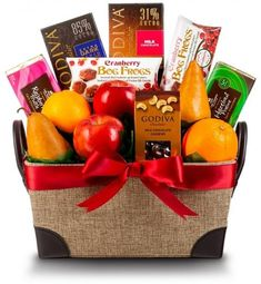 Chocolate and Fruit Delight Gift Basket