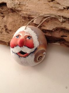 Christmas at the beach sculpted Santa on super by mypaintinplace, $10.95