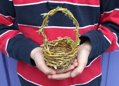 Willow basket. #natural #crafts #willow #basket #weaving #forestschool