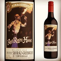 2011 vinaceous red right hand shiraz grenache tempranillo region: MARGARET… New Zealand Wine, Red Right Hand, Wine Recipes, Alcohol, Bottle, 12 Months, Food, Art, Wine