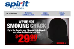 Spirit Airlines mocks Toronto mayor Rob Ford's crack smoking political scandal in these new ads with flights to Toronto.