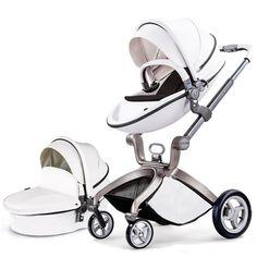 Baby Stroller Hot Mom 3 in 1 travel system Bassinet Combo Pushchair Pram White Mama Baby, Mom And Baby, Baby Kids, Used Strollers, Best Baby Strollers, Orbit Baby, Toddler Stroller, Pram Stroller, Single Stroller