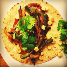 poblano peppers, charred fresh corn, morita salsa, cilantro #tacotuesday