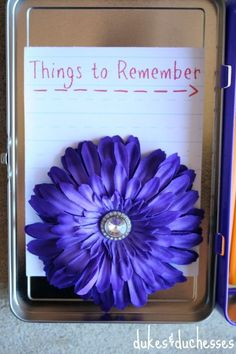 things to remember printable for the lunchbox or pencil box
