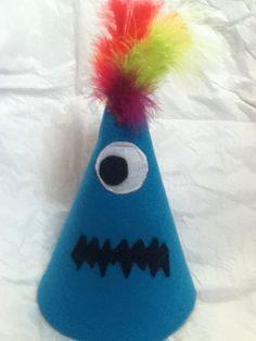 Monster  Birthday party hat. $17.99, via Etsy.