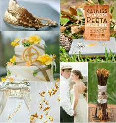 A Hunger Games Themed Wedding Look | Beau-coup Wedding Blog
