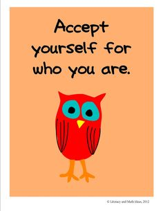 'Accept Yourself' from Literacy & Math Ideas