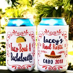 bachlorette party ideas Fiesta Can Huggers. Fiesta Bachelorette or Bachelor Party Gifts. Custom Can Coolers are great Mexican Bachelorette Party Planning, Bachelorette Party Shirts, Bachelorette Party Favors, Bachelorette Weekend, Cancun, Tulum, Mexican Wedding Favors, Fiesta Party Favors, Bachelor Party Gifts