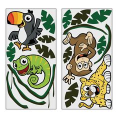 Jungle Background Characters - OrientalTrading.com possibly for decorating. Could do jungle animal theme?