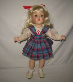 """1950's Ideal 14"""" HP Platinum Blonde Toni Doll in Original Dress P-90  ML77 in Dolls & Bears, Dolls, By Brand, Company, Character, Ideal, Toni 