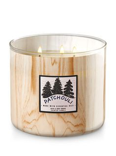 White Barn Patchouli Woods Candle - Bath And Body Works Bath Candles, 3 Wick Candles, White Candles, Scented Candles, Candle Jars, Fragrant Candles, Home Scents, Light My Fire, Decorated Jars