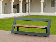 Use an old door frame, an metal dining table base from the 70's and some re-claimed wood for the seating...very possible!  Some shop time and a bit of dowel creativity, and bingo...a contemporary yard bench.: