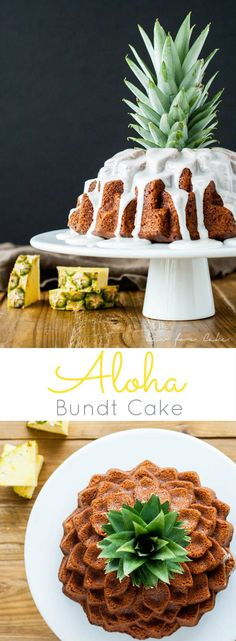Types of Houseplant Bugs and Methods to Check Their Infestation This Aloha Bundt Cake Is Loaded With The Very Best Hawaii Has To Offer - Bananas, Pineapple, Coconut, And Macadamia Nuts Aloha Party, Cupcake Recipes, Cupcake Cakes, Dessert Recipes, Cupcakes, Bunt Cakes, Pineapple Coconut, Banana Coconut, Coconut Flour