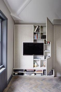 14 Hidden Storage Ideas for Small Spaces via Brit + Co                                                                                                                                                                                 More #modernhomedesigninterior