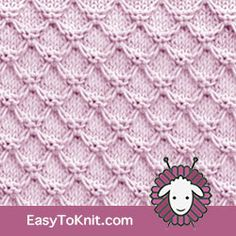 EasyToKnit Honeycomb stitch pattern. Very clear and detailed instructions Types Of Knitting Stitches, Slip Stitch Knitting, Baby Knitting, Knit Stitches, Free Knitting, Loom Knitting Projects, Knitting Patterns Free, Stitch Patterns, Crochet Bebe