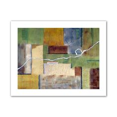 'Weaving' by Herb Dickinson Painting Print on Canvas