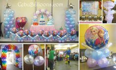 frozen party decorations | Disney Frozen Balloon Decoration Setup at Lakwatsa Resto Lounge