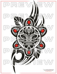 awesome taino tribal sun tattoo design  Maybe this on my shoulder?
