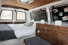 This is the space I have in my Chevy 3500 cargo van. Inspiration! nicely done! J. Morse