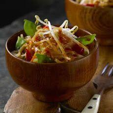 Vegetable Pad Thai with Snow Peas Recipe