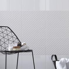 Carrelage mural rubix mat artens en fa ence blanc blanc n for Carrelage 5x5 blanc