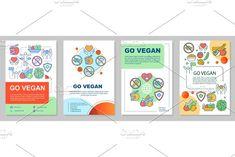 Leaflet Printing, Vegetarian Lifestyle, Sports Nutrition, Page Layout, Going Vegan, Brochure Template, Booklet, Social Media Marketing, Print Design