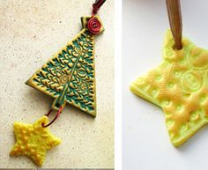 Polymer Clay Christmas Projects | christmas,christmas tree, ornament