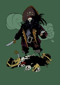 The evil pirate LeChuck by VegaNya on deviantART