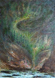 Ca0203 Óleo tela 70x50x2 cm  En el bosque