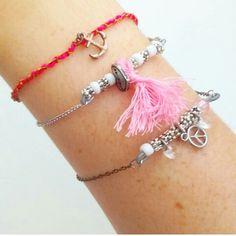 Voici quelques idées de bracelets, réalisé avec des v...