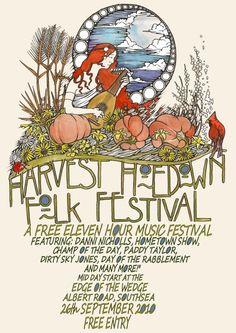 harvest hoedown poster