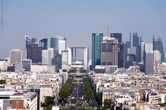 La Défense is the prime high-rise office district of Paris. Many of Paris's tallest buildings can be found here as well a modern version of the Arc de Triomphe: the Grande Arche de la Défense.