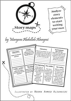 Story maps - Analyze story elements Exercises and explanations of story elements to solve and discuss with your students. This guide is great to start with before letting your students write their stories. 5 Worksheets that analyze building events, climax, quality writing, character and other story elements that lead to a successful writing.