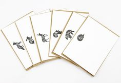 Stock up on these cute Woodland Animal Hello card set. So Cute.
